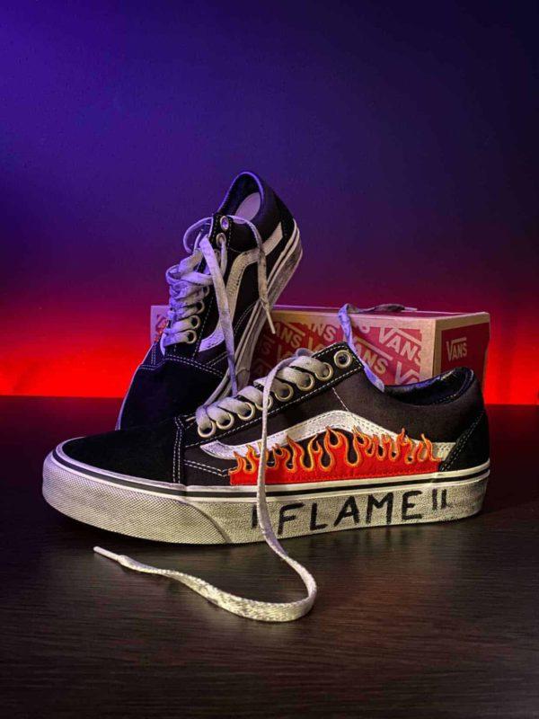 scarpe vans old skool fiamme