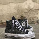 Converse Platform HIGH BLACK Glitter 1
