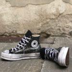 Converse Platform HIGH BLACK Glitter 3