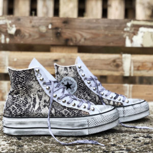 Converse Platform HIGH White Animal Pitone White