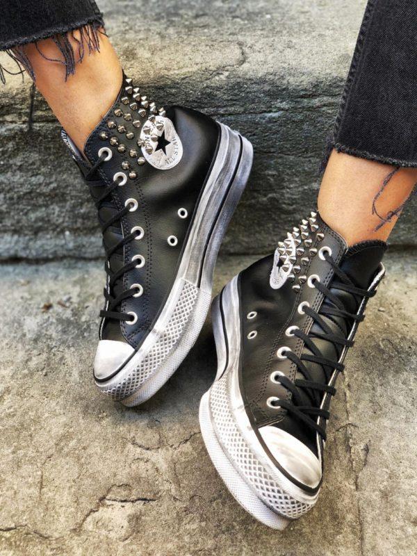 Le tue scarpe Converse Platform LEATHER BLACK COLLAR ...