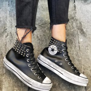 Converse Platform LEATHER BLACK COLLAR