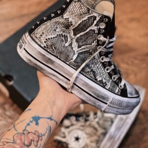 Converse HIGH Platform Black Cobra White