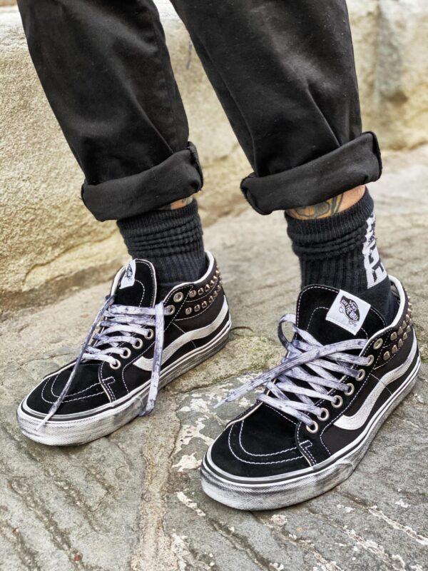 Le tue scarpe VANS SK8-HI MID BLACK BORCHIE personalizzate da ...