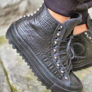 Converse Ripple LEATHER BLACK CROCCO