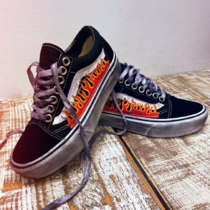 Vans OLD SKOOL PLATFORM FLAME