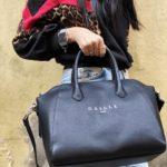 GAELLE MAXI BOWLING BAG NERA FLUO