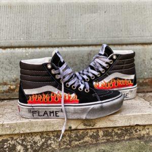 VANS SK8-HI PLATFORM BLACK Flame
