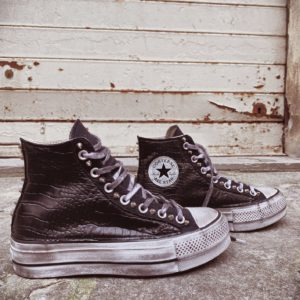 Converse Platform HIGH CROCCO BLACK