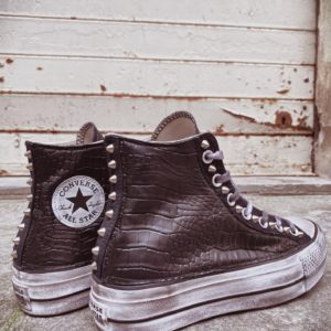 Converse Platform HIGH CROCO BLACK