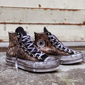 Converse Platform HIGH black ANIMAL natural
