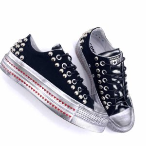 CONVERSE PLATFORM LOW CANVAS LOVE ZEBRA