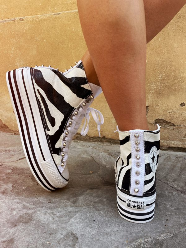 CONVERSE PLATFORM HIGH LAYER WHITE ZEBRA
