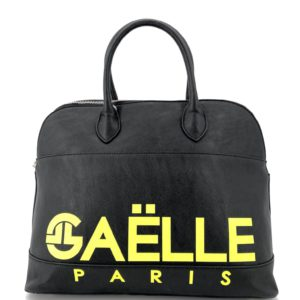 GAELLE MAXI BOWLING BAG NERA FLUO