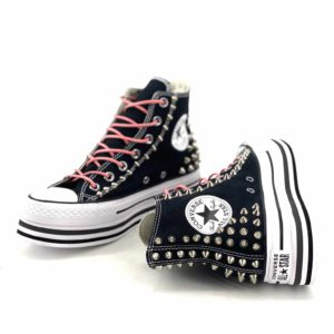 CONVERSE PLATFORM HIGH LAYER BLACK BORCHIE