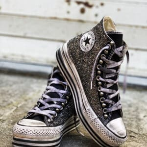 CONVERSE PLATFORM HIGH LAYER BLACK GLITTER