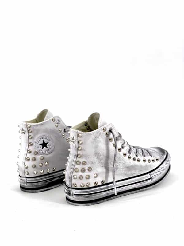 CONVERSE PLATFORM EVA HIGH WHITE LEATHER SPIKES