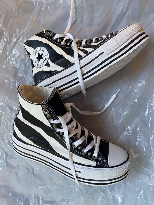 CONVERSE PLATFORM HIGH LAYER BLACK ZEBRA