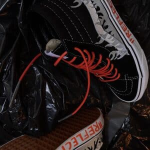 Vans Sk8 High black FLAME REFLECTIVE