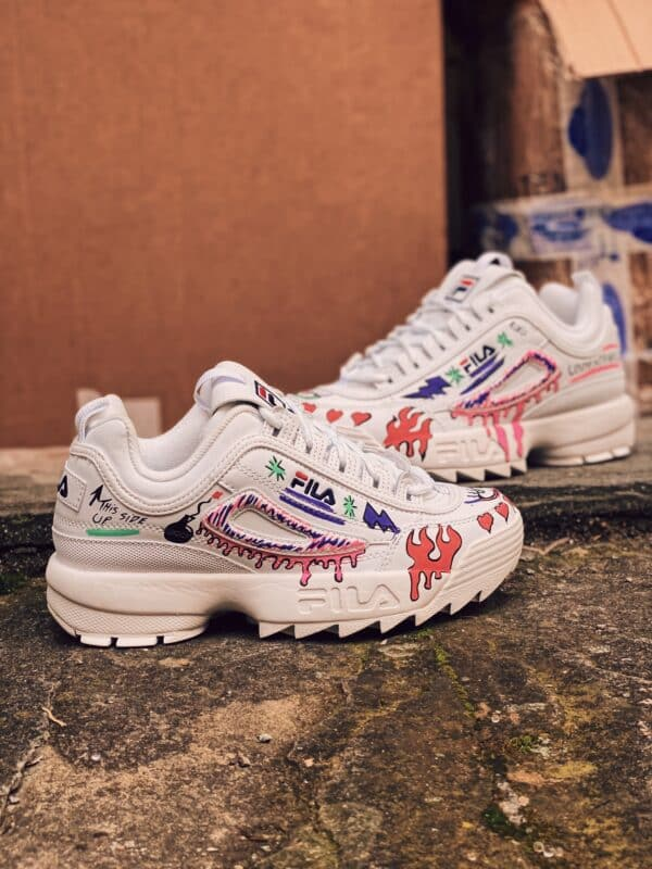 FILA Disruptor white GRAFFITI
