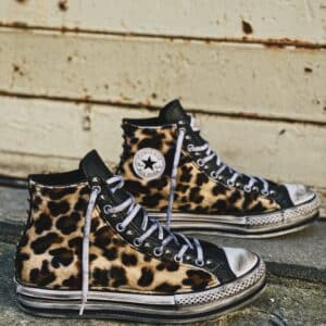 CONVERSE PLATFORM EVA HIGH BLACK LEO leather