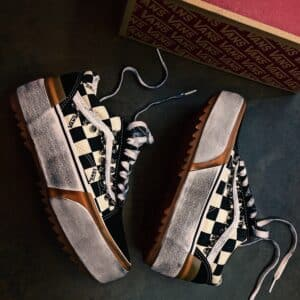 VANS OLD SKOOL PLATFORM stacked CHECK and STUDS