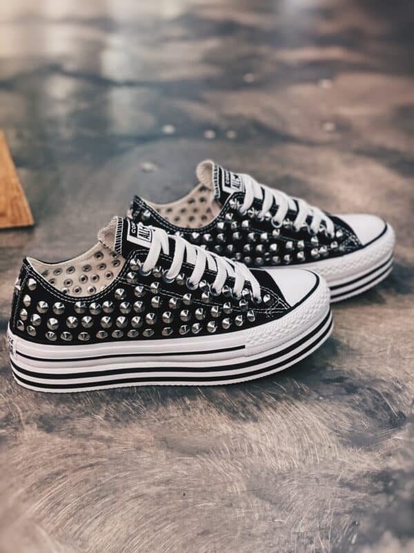 CONVERSE PLATFORM LOW Layer BLACK borchie (FULL)