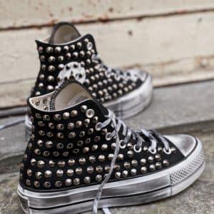 Converse Platform HIGH Borchie Black (FULL)