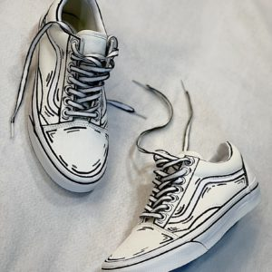 VANS OLD SKOOL Classic white CARTOON